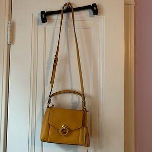 NWT Gianni Bini yellow chiara satchel